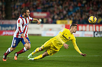 Atletico de Madrid´s Koke and Villarreal´s Gabriel during 2014-15 La Liga match between Atletico de Madrid and Villarreal at Vicente Calderon stadium in Madrid, Spain. December 14, 2014. (ALTERPHOTOS/Luis Fernandez) /NortePhoto