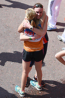 Helen Glover &amp; Heather Stanning at the finish line on The Mall at the 2017 London Marathon, London, UK. <br /> 23 April  2017<br /> Picture: Steve Vas/Featureflash/SilverHub 0208 004 5359 sales@silverhubmedia.com
