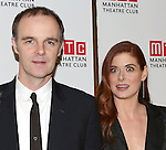 actor Brian F. O'Byrne and actress Debra Messing  attend the 'Outside Mullinger' Broadway opening night after party at The Copacabana on January 23, 2014 in New York City.