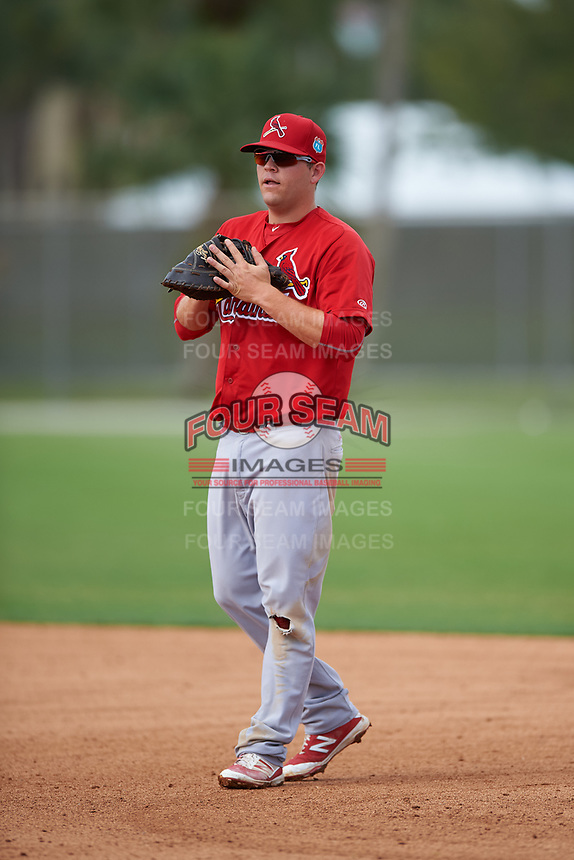 St. Louis Cardinals first baseman Casey Grayson (40) during a Minor League Spring Training game against the New York Mets on March 31, 2016 at Roger Dean Sports Complex in Jupiter, Florida.  (Mike Janes/Four Seam Images)