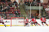 Colin Blackwell (Harvard - 63) scores - The Harvard University Crimson defeated the visiting Rensselaer Polytechnic Institute Engineers 5-2 in game 1 of their ECAC quarterfinal series on Friday, March 11, 2016, at Bright-Landry Hockey Center in Boston, Massachusetts.