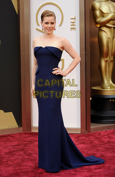 HOLLYWOOD, CA - MARCH 2: Amy Adams arriving to the 2014 Oscars at the Hollywood and Highland Center in Hollywood, California. March 2, 2014. <br /> CAP/MPI/COR<br /> &copy;Corredor99/ MediaPunch/Capital Pictures