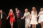 """Curtain Call: Grant Aleksander - Cynthia Watros - Michael O'Leary - Tina Sloan - Emma Gilliland - Meredith Taylor - Guiding Light's Michael O'Leary author of """"Breathing Under Dirt"""" - full play - had its world premier on August 13 and 14, 2016 at the Ella Fitzgerald Performing Arts Center, University of Maryland Eastern Shore, Princess Anne, Maryland  (Photo by Sue Coflin/Max Photos)"""