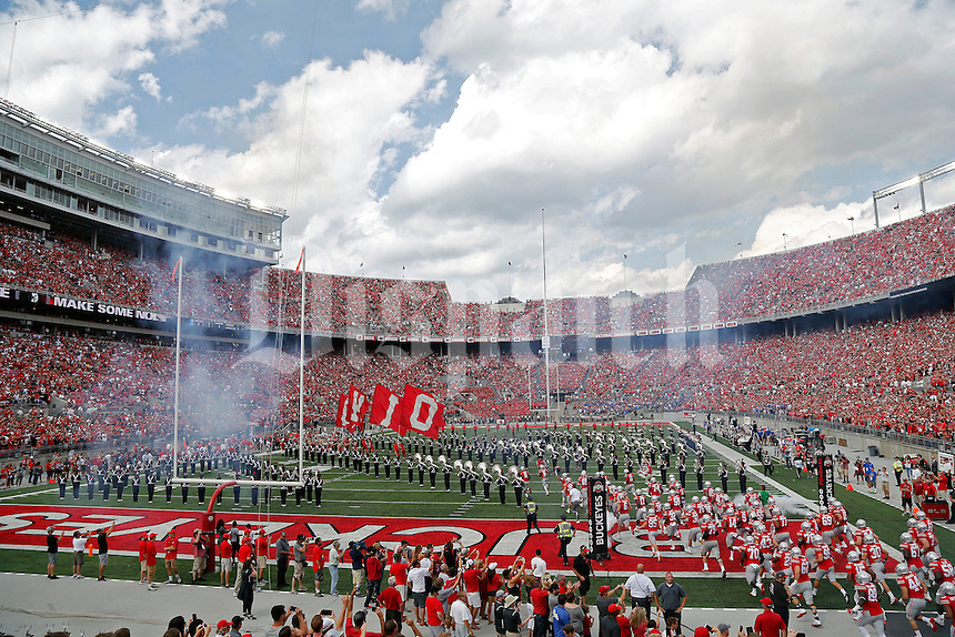 Ohio State Buckeyes against Tulsa Golden Hurricane during their game at Ohio Stadium in Columbus, Ohio on September 10, 2016.  (Kyle Robertson / The Columbus Dispatch)
