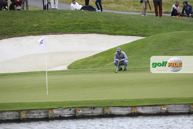 Felipe Aguilar (CHI) on the 2nd green during Round 2 of the HNA Open De France  at The Golf National on Friday 30th June 2017.<br /> Photo: Golffile / Thos Caffrey.<br /> <br /> All photo usage must carry mandatory copyright credit      (&copy; Golffile | Thos Caffrey)