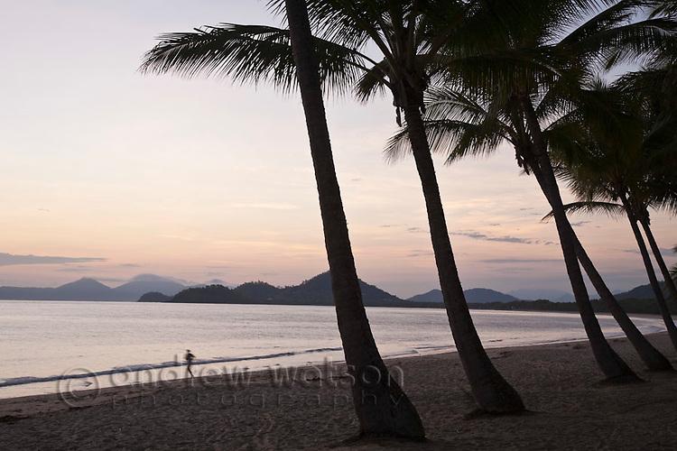 Palm Cove beach at dawn.  Palm Cove, Cairns, Queensland, Australia