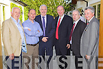 Pictured at the Bank of Ireland Enterprise Night on Thursday in Ballygarry House Hotel, from left: Henry Lyons (Brandon Products), Tim Kelliher (Kelliher?s Garage), Frank Shaw (Bank of Ireland), Jim Finucane (Finucane Auctioneers), Martin Moore (Accountant) and Tom Moore (Bank of Ireland).