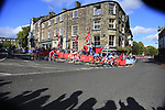 Riders arrive in Harrogate during the Women Elite Road Race of the UCI World Championships 2019 running 149.4km from Bradford to Harrogate, England. 28th September 2019.<br /> Picture: Eoin Clarke | Cyclefile<br /> <br /> All photos usage must carry mandatory copyright credit (© Cyclefile | Eoin Clarke)