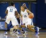 Junior guard Bernisha Pinkett attacks the basket at the Women's Basketball game at Memorial Coliseum in Lexington, Ky., on Saturday, November. 17, 2012..