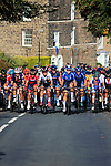 The peloton on the 2nd circuit of Harrogate during the Women Elite Road Race of the UCI World Championships 2019 running 149.4km from Bradford to Harrogate, England. 28th September 2019.<br /> Picture: Andy Brady | Cyclefile<br /> <br /> All photos usage must carry mandatory copyright credit (© Cyclefile | Andy Brady)