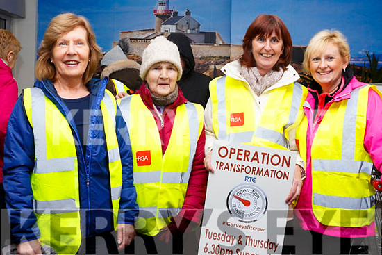 Joan Griffin, Eileen McCord, Catherine Mahony and  Mary Ashe attending the SuperValu Rock St Operation Transformation on Thursday evening last.