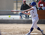 Western Nevada College's Andrea Lee has an at-bat during a college softball game against Colorado Northwestern Community College in Carson City, Nev., on Friday, Feb. 22, 2013. .Photo by Cathleen Allison