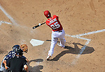 22 June 2014: Washington Nationals first baseman Adam LaRoche in action against the Atlanta Braves at Nationals Park in Washington, DC. The Nationals defeated the Braves 4-1 to split their 4-game series and take sole possession of first place in the NL East. Mandatory Credit: Ed Wolfstein Photo