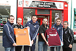 New Football Team, Drogheda Crescent at Town Centre Barbers...Picture Jenny Matthews/Newsfile.ie