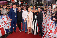 "David Walliams, Ant McPartlin, Simon Cowell, Ant McPartlin Amanda Holden, Alesha Dixon and Declan Donnelley<br /> arrives to film for ""Britain's Got Talent"" 2017 at the Palladium, London.<br /> <br /> <br /> ©Ash Knotek  D3222  29/01/2017"