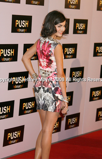 "WESTWOOD, CA. - January 29: Actress Camilla Belle arrives at the Los Angeles Premiere of ""Push"" at the Mann Village Theater on January 29, 2009 in Westwood, California."