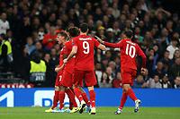 Joshua Kimmich of Bayern Munich celebrates scoring the first Munich goal during Tottenham Hotspur vs FC Bayern Munich, UEFA Champions League Football at Tottenham Hotspur Stadium on 1st October 2019