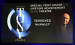 Special Tony Award for Lifetime Achievement in the Theatre to Terrence McNally during The 73rd Annual Tony Awards Nominations Announcement on April 30, 2019 in New York City.