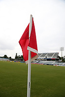 Cary, North Carolina  - Wednesday May 24, 2017: Corner flag prior to a regular season National Women's Soccer League (NWSL) match between the North Carolina Courage and the Sky Blue FC at Sahlen's Stadium at WakeMed Soccer Park. The Courage won the game 2-0.