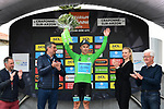Alexey Lutsenko (KAZ) Astana Pro Team takes over the points Green Jersey at the end of Stage 2 of the Criterium du Dauphine 2019, running 180km from Mauriac to Craponne-sur-Arzon, France. 9th June 2019<br /> Picture: ASO/Alex Broadway | Cyclefile<br /> All photos usage must carry mandatory copyright credit (© Cyclefile | ASO/Alex Broadway)