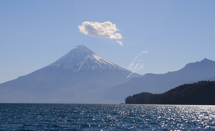 View of Osorno Volcano on the way to Puerto Varas, from Puella, Chile | Feb 08