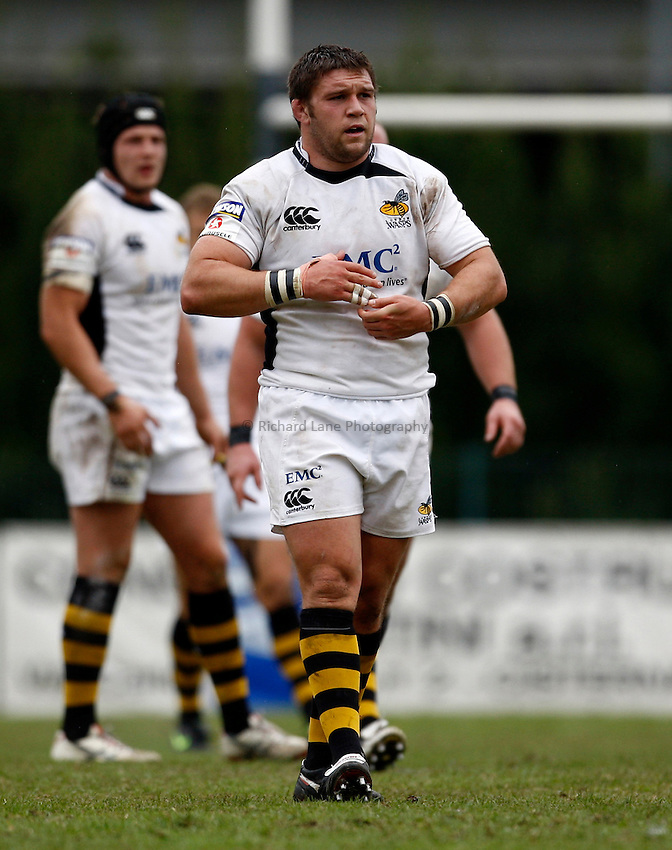Photo: Richard Lane/Richard Lane Photography. Rugby Roma v London Wasps. Amlin Challenge Cup. 17/10/2009.   Wasps' Ben Broster.