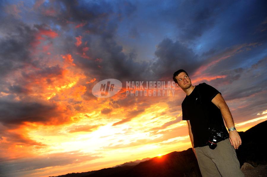 desert weather storm chaser chasing clouds sky Arizona mountain mountains sunset photographer Robert Caplin