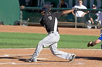 Wesley Jones (34) of the Grand Junction Rockies at bat against the Ogden Raptors on June 19, 2014 at Lindquist Field in Ogden, Utah. (Stephen Smith/Four Seam Images)