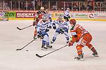 13.02.2018, Kunsteisstadion im Sahnpark, Crimmitschau, GER, DEL 2, Eispiraten Crimmitschau vs. SC Riessersee, im Bild<br /> <br /> <br /> Lubor Dibelka (#22, SC Riessersee), Andreas Driendl (#10, SC Riessersee), Elia Ostwald (#17, Eispiraten Crimmitschau), <br /> <br /> Foto &copy; nordphoto / Dostmann