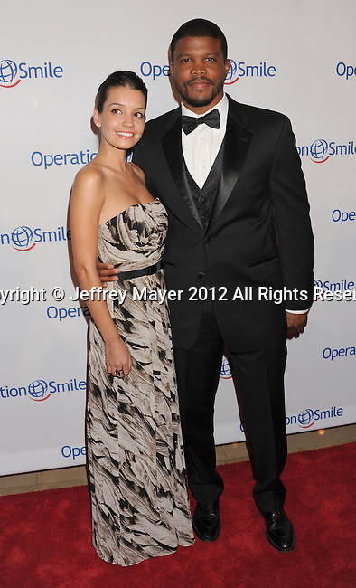 BEVERLY HILLS, CA - SEPTEMBER 28: Sharif Atkins attends Operation Smile's 30th Anniversary Smile Gala - Arrivals at The Beverly Hilton Hotel on September 28, 2012 in Beverly Hills, California.