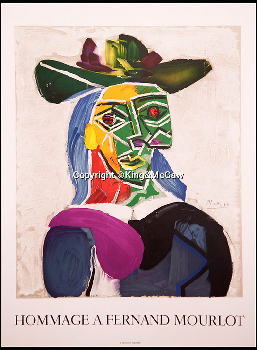 BNPS.co.uk (01202 558833)Pic: King&amp;McGaw/BNPS<br /> <br /> Hommage a Fernand Mourlot by Pablo Picasso - Yours for &pound;250.<br /> <br /> Pay peanuts for a Picasso...<br /> <br /> If you have ever been moved by a Matisse, longed for a Lautrec or pined for a Picasso you now have a chance to snap up a work by some of the most famous names in modern art for much less than you might think.<br /> <br /> British art dealers King &amp; McGaw have acquired the archives of legendary French printer Atelier Mourlot and are now selling off the original hand-crafted lithographs for not much more than the cost of a large lunch.<br /> <br /> It is the first time the collection of more than 40 posters, by great artists such as Picasso, Marc Chagall, Joan Miro, Edvard Munch, Henri Toulouse-Lautrec and Henri Matisse, have been sold in Britain. <br /> <br /> And while the best work of big names sell for millions, art-lovers can get their hands on these posters for a tiny fraction of the cost - with some going for as little as &pound;95.