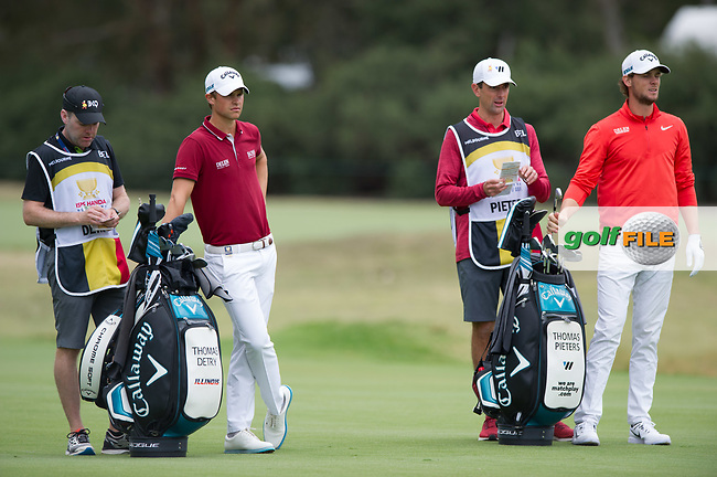 Thomas Detry (BEL) and Thomas Pieters (BEL) during the final round of the World Cup of golf,  The Metropolitan Golf Club, The Metropolitan Golf Club, Victoria, Australia. 25/11/2018<br /> Picture: Golffile | Anthony Powter<br /> <br /> <br /> All photo usage must carry mandatory copyright credit (© Golffile | Anthony Powter)