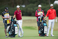 Thomas Detry (BEL) and Thomas Pieters (BEL) during the final round of the World Cup of golf,  The Metropolitan Golf Club, The Metropolitan Golf Club, Victoria, Australia. 25/11/2018<br /> Picture: Golffile | Anthony Powter<br /> <br /> <br /> All photo usage must carry mandatory copyright credit (&copy; Golffile | Anthony Powter)