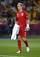 FUSSBALL  EUROPAMEISTERSCHAFT 2012   VIERTELFINALE England - Italien                     24.06.2012 Torwart Joe Hart (England)