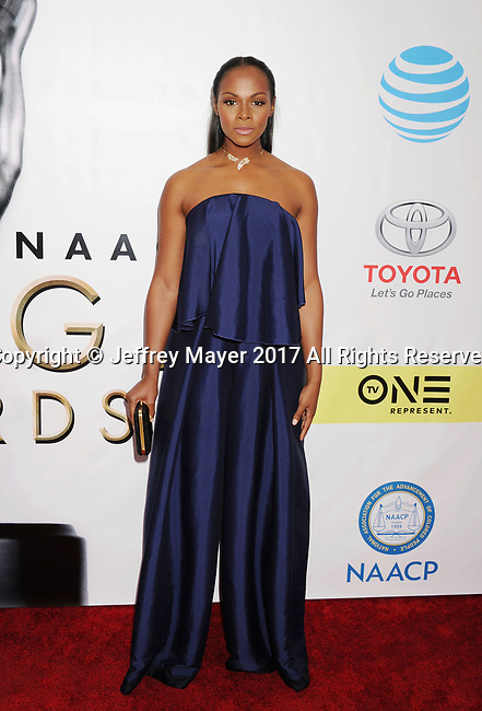 PASADENA, CA - FEBRUARY 11: Actress-model Tika Sumpter arrives at the 48th NAACP Image Awards at Pasadena Civic Auditorium on February 11, 2017 in Pasadena, California.
