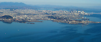 Panoramic aerial view of San Francisco including South San Francisco