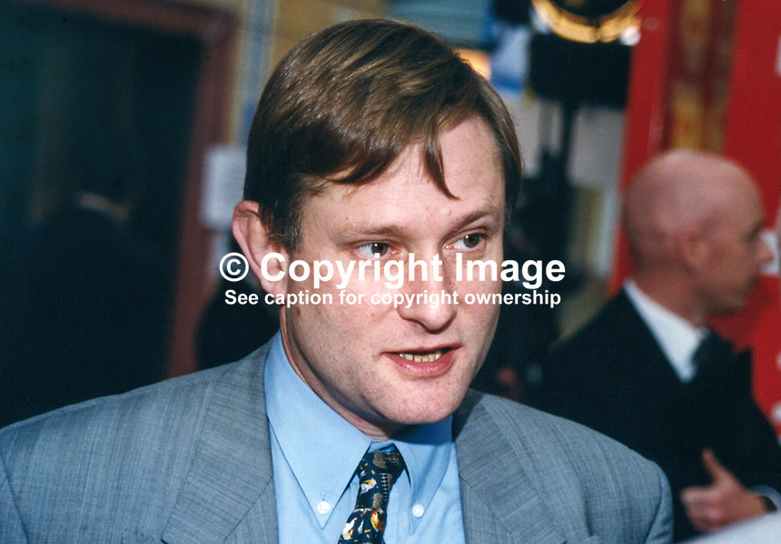 Hugh Bayley, MP, Labour Party, UK, 19961024HB.<br />