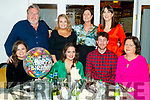 Clare Daly, Oakpark, Tralee, who celebrated her 31st birthday in Bella Bia restaurant, Tralee, on Saturday night last. Pictured front l-r: Ellen Daly Clare Daly, David O'Callaghan and Mary Daly. Back l-r: Pat Daly, Elizabeth Daly, Bernadette Quinlan and Sarah Daly.