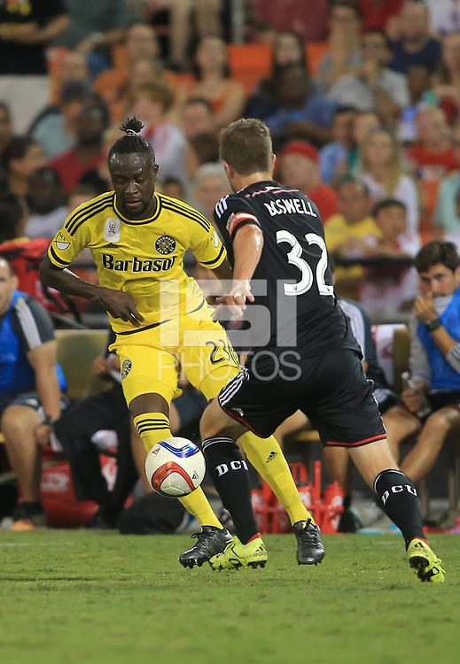 Washington, D.C. - Saturday, September 19, 2015: The Columbus Crew defeated D.C. United 2-1 in a MLS match at RFK Stadium.