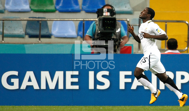 Ghana's Kennedy Ashia celebrate his goal during their FIFA U-20 World Cup Turkey 2013 Group Stage Group A soccer match Ghana betwen USA at the Kadir Has stadium in Kayseri on June 27, 2013. Photo by Aykut AKICI/isiphotos.com