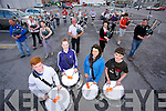 Josh Leahy, Jessica Stevenson, Olivia Beesley, Michael Carroll and the members of the Tralee Pipe and drum Practising for the World Pipe Band Championships in Glasgow This weekend in Garvey's Car Park on Monday. Hoping to improve on last years 5th place