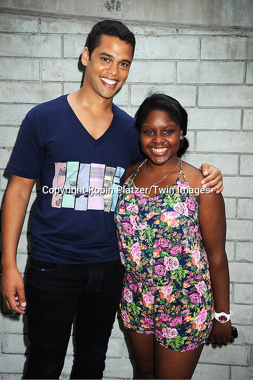 Barret Helms and Shenell Edmonds attending The One Life to Live.43rd Anniversary Block Party outside the ABC Studio on July 15, 2011 in New York City.