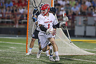College Park, MD - April 29, 2017: Maryland Terrapins Matt Rambo (1) makes a move during game between John Hopkins and Maryland at  Capital One Field at Maryland Stadium in College Park, MD.  (Photo by Elliott Brown/Media Images International)