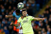 Petar Stojanovic of Dinamo Zagreb and Raheem Sterling of Manchester City during the UEFA Champions League Group C match between Manchester City and Dinamo Zagreb at the Etihad Stadium on October 1st 2019 in Manchester, England. (Photo by Daniel Chesterton/phcimages.com)<br /> Foto PHC/Insidefoto <br /> ITALY ONLY