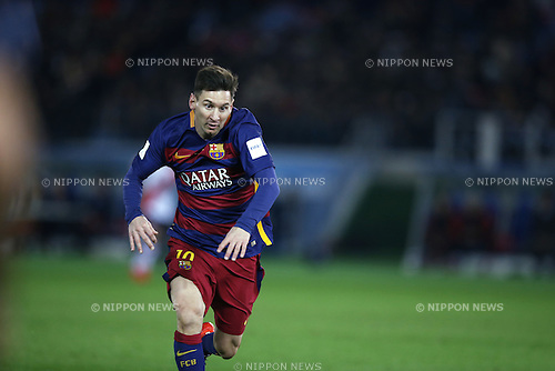 Lionel Messi (Barcelona), DECEMBER 20, 2015 - Football / Soccer : FIFA Club World Cup Japan 2015 Final match between River Plate 0-3 FC Barcelona at International Stadium Yokohama in Kanagawa, Japan. (Photo by Koji Aoki/AFLO SPORT)