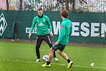 17.01.2020, Trainingsgelaende am wohninvest WESERSTADION,, Bremen, GER, 1.FBL, Werder Bremen Training ,<br /> <br /> <br />  im Bild<br /> <br /> Niklas Moisander (Werder Bremen #18 Kapitaen)<br /> Yuya Osako (Werder Bremen #08)<br /> <br /> Foto © nordphoto / Kokenge