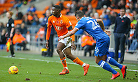 Blackpool's Viv Solomon-Otabor gets away from Portsmouth's Gareth Evans<br /> <br /> Photographer Alex Dodd/CameraSport<br /> <br /> The EFL Sky Bet League One - Blackpool v Portsmouth - Saturday 11th November 2017 - Bloomfield Road - Blackpool<br /> <br /> World Copyright &copy; 2017 CameraSport. All rights reserved. 43 Linden Ave. Countesthorpe. Leicester. England. LE8 5PG - Tel: +44 (0) 116 277 4147 - admin@camerasport.com - www.camerasport.com