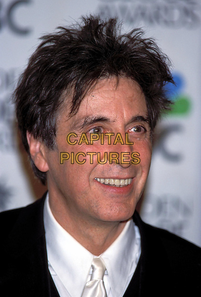 AL PACINO.Golden Globe Awards 2001.Golden Globes.Ref: 10304.portrait headshot, smiling.sales@capitalpictures.com.www.capitalpictures.com.©Capital Pictures