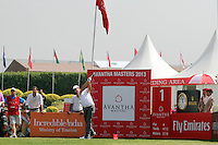 Tommy Fleetwood (ENG) on the 1st tee during Round 3 of the 2013 Avantha Masters, Jaypee Greens Golf Club, Greater Noida, Delhi, 16/3/13..(Photo Jenny Matthews/www.golffile.ie)