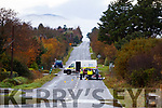 The road Tonevane remained closed on Wednesday following a road death of a cyclist at on Tuesday evening.